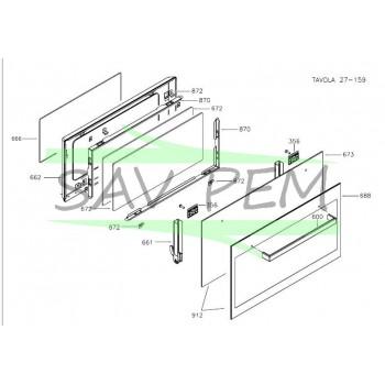 Joint de vitre intérieure pour four AIRLUX