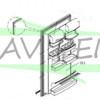 Porte complète réfrigérateur AIRLUX F31C - RC26A