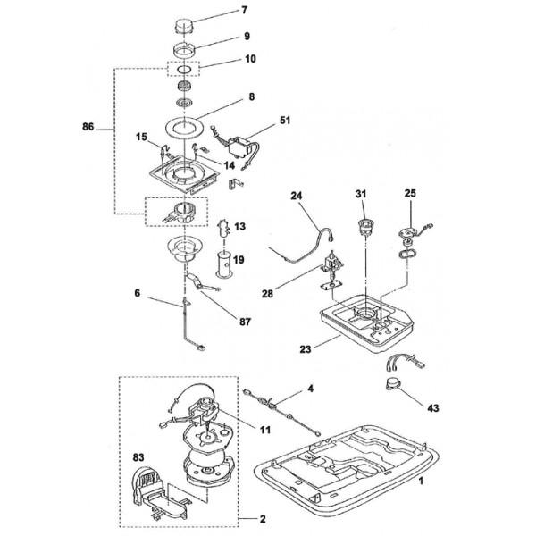 electrode d 39 allumage pour po le p trole inverter sav pem. Black Bedroom Furniture Sets. Home Design Ideas