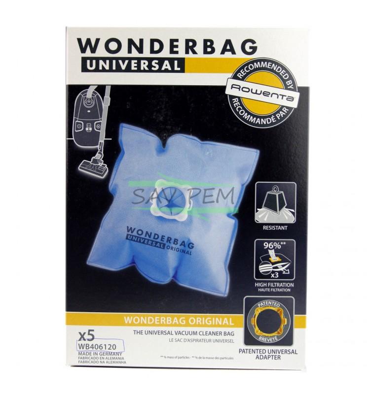 sacs wonderbag wb406120 pour aspirateur moulinex et. Black Bedroom Furniture Sets. Home Design Ideas