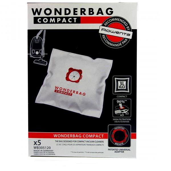 sacs wonderbag wb305120 compact pour aspirateur moulinex. Black Bedroom Furniture Sets. Home Design Ideas