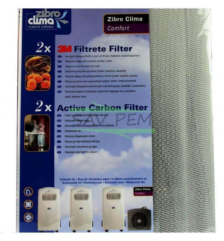 Filtre pour climatiseur ZIBRO KAMIN P100, P120, P122, P125, P129, P227, P328, P820