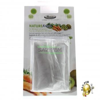 Pack de 4 sachets Nature fresh NFS001 Universels pour refrigerateur