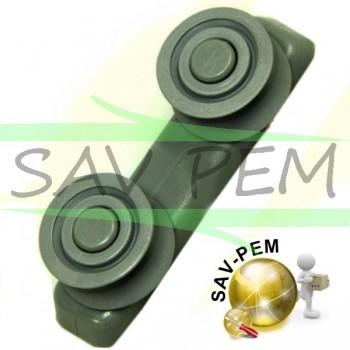 Roulettes guide rails pour lave vaisselle GLEM XDI60