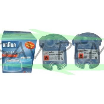 Nettoyant CCR2 pour rasoirs BRAUN CLEAN et RENEW