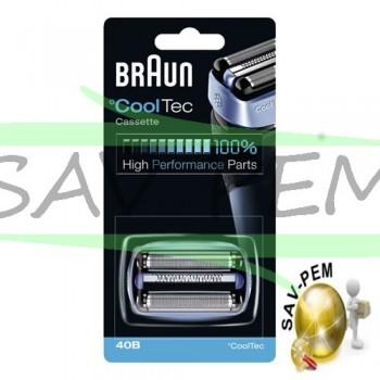 Cassette de rasage 40B COOLTEC rasoir BRAUN