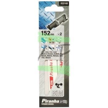 Lames BiMétal scie sabre 152mm denture 1mm