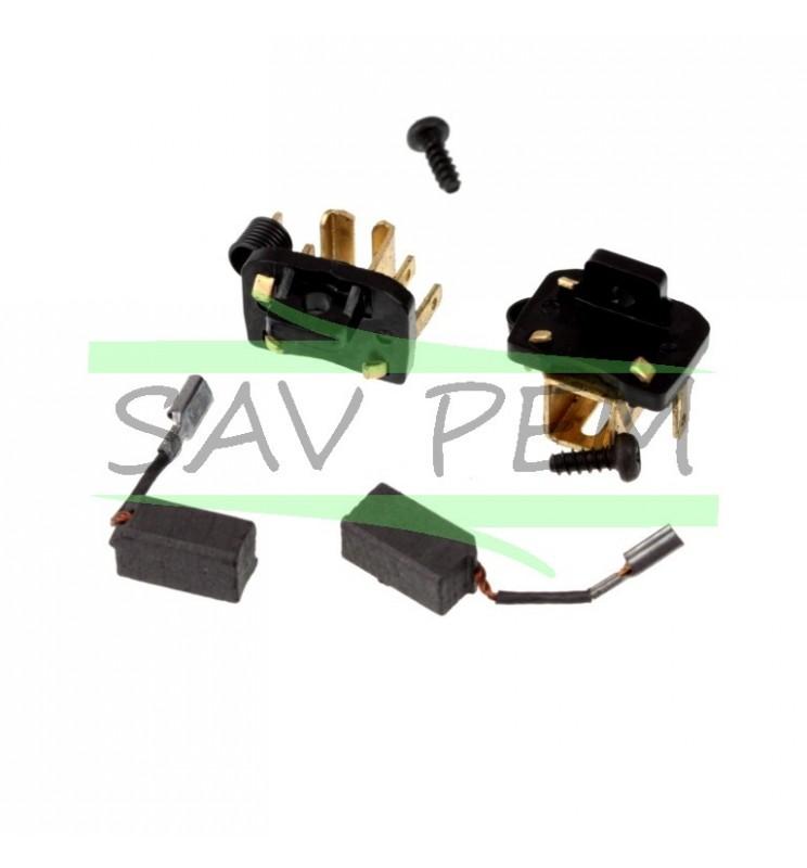 Balais 1004519-17 pour les meuleuses BLACK & DECKER KG750 - KG751 et STANLEY FME811 - FME812