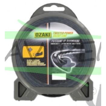 Fil débroussailleuse hélicoïdal OZAKI 2,4mm x 15m