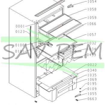 Bac à légumes réfrigérateur AIRLUX RMF200A