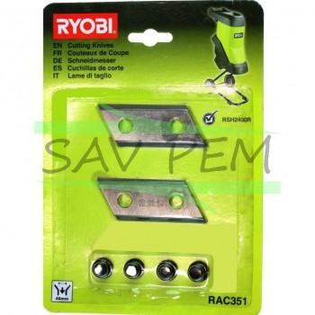 Lames broyeurs RYOBI 5132002646 pour RSH2400R, RSH2545B