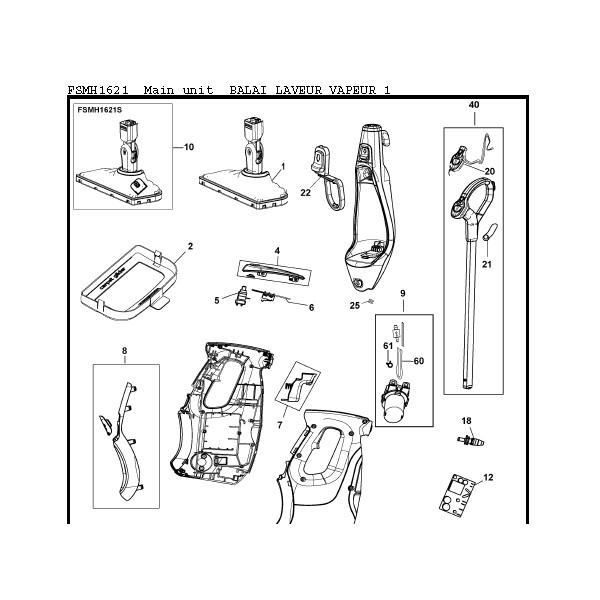 embout tuyau balai vapeur black et decker fsmh1621 sav pem. Black Bedroom Furniture Sets. Home Design Ideas