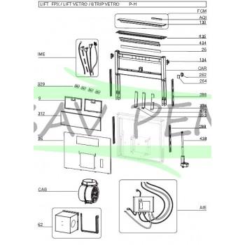 Dessus verre Z08093146 pour hotte AIRLUX AHV980BK