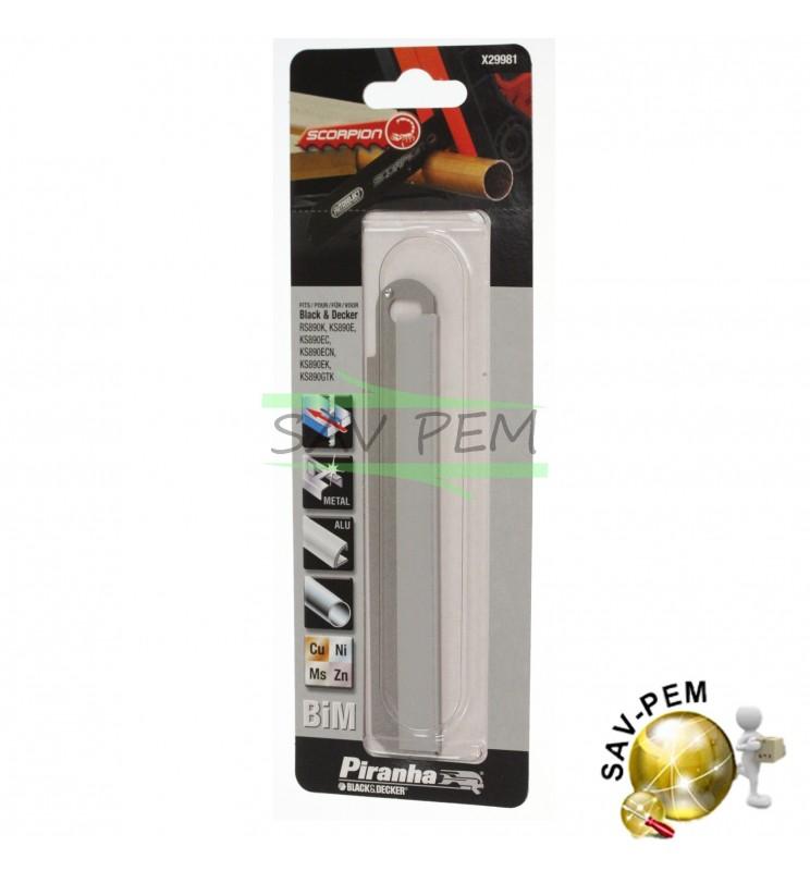 Lame STA29981pour scie Scorpion métal BLACK & DECKER KS890, KS890EKS890, KS890E