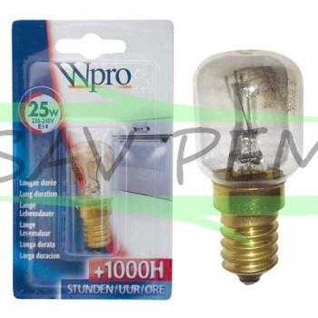 Ampoule de four 25 watt, culot E14 vis, 220 volt
