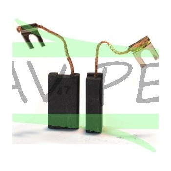Charbons 1607014125 outillages BOSCH PKS65, PWS 12-180, SHO 160