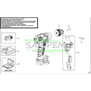 Batterie/Accu pour perceuse BLACK ET DECKER EGBL108H1
