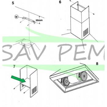 Plaque pour recyclage hotte AIRLUX AHP77IX