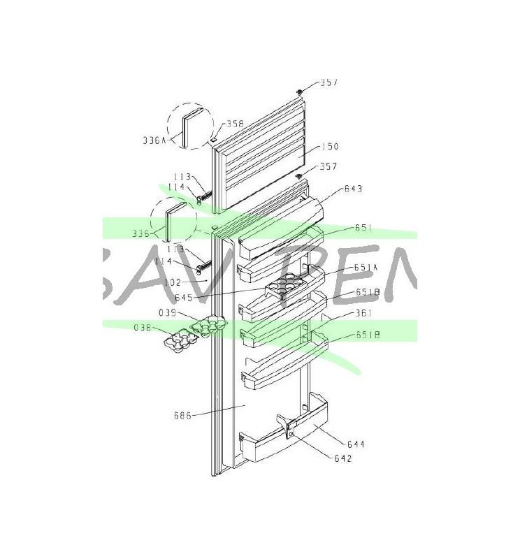 joint de porte du r frig rateur airlux rd 270a ari29da. Black Bedroom Furniture Sets. Home Design Ideas