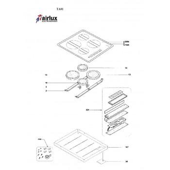 Foyer table vitroceramique Airlux TA01
