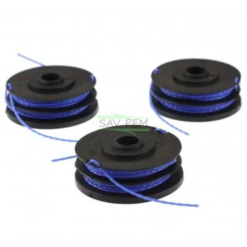 Bobines de fil RAC123 pour coupe-bordure RYOBI RLT6030