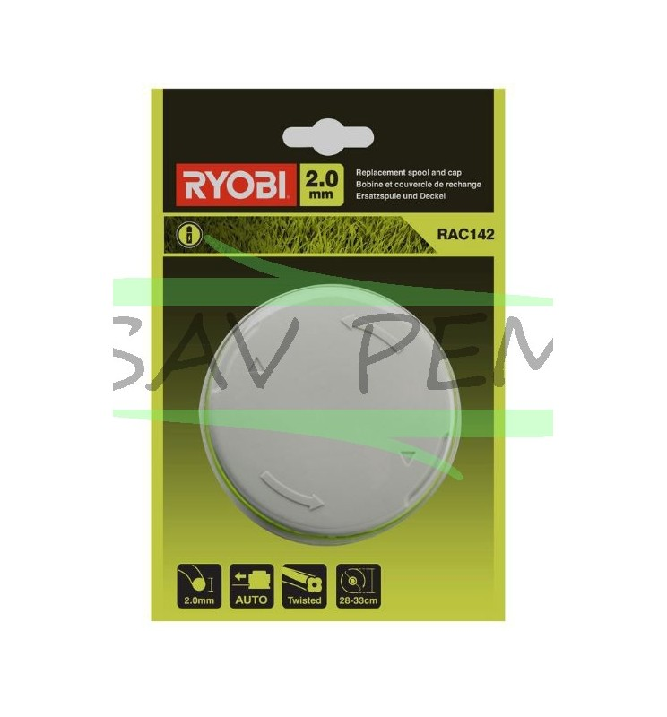 Bobine et couvercle coupe bordure RYOBI RLT36C33