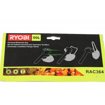 Sac 5132002995, RAC364 souffleur RYOBI, HOMELITE RBV2200, RBV2400VP