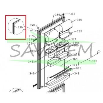 Joint de porte du réfrigérateur pour le modèle AIRLUX RC26A, HZDI2626