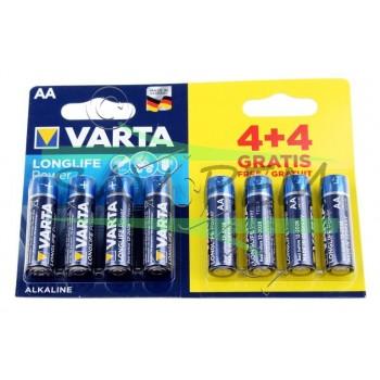 PACK PROMO Piles LR6 VARTA (4 + 4 GRATUITES)