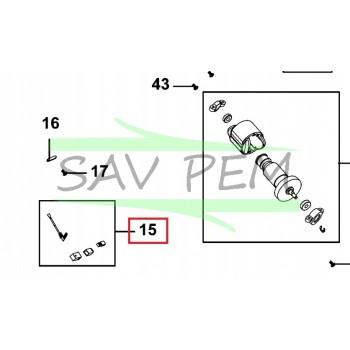 Balais moteur x2 1004697-65 pour l'élagueur BLACK et DECKER PS7525