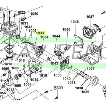 Joint de carburateur débroussailleuse RYOBI RBC42FSB
