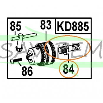 Adaptateur SDS pour mandrin perceuse Black & Decker XTD24CK