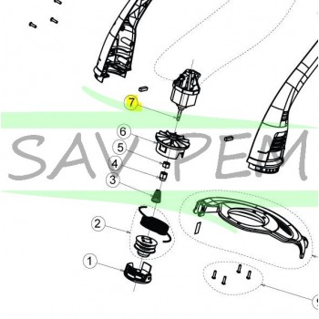 Moteur coupe bordure RYOBI RLT3025S / RLT3525SPK3
