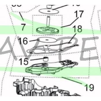 Joint de carter entraînement de lame taille-haies RYOBI RHT2660DA (Lame jaune)