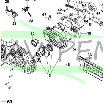 Carter tension de chaîne tronçonneuse DeWalt DCM565