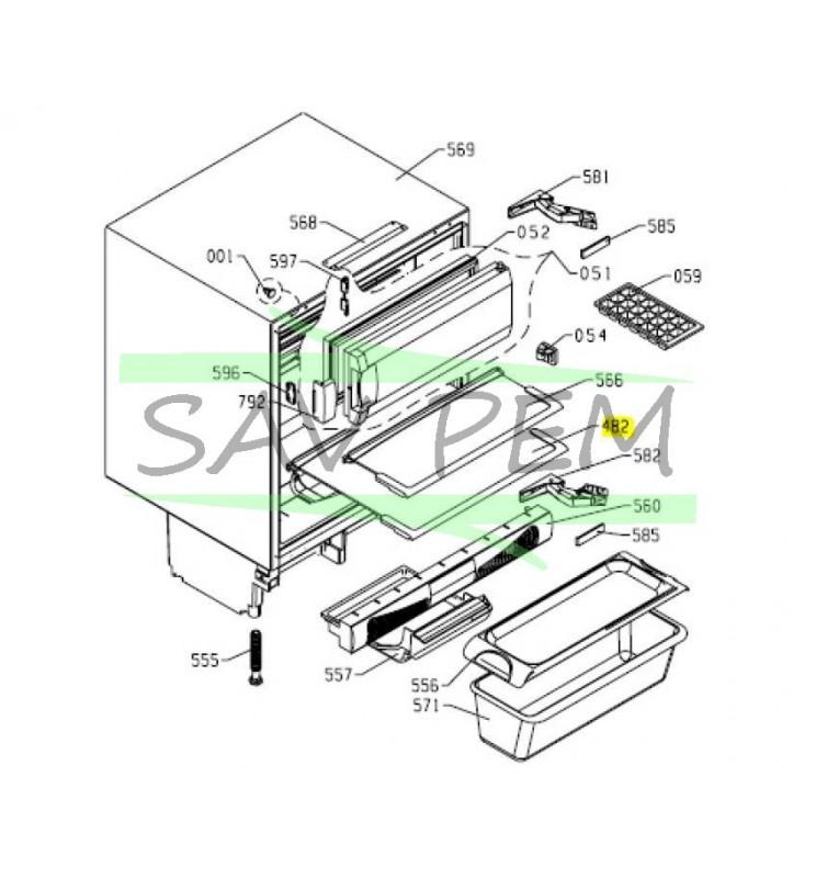Clayette pour réfrigérateur AIRLUX RTF130A