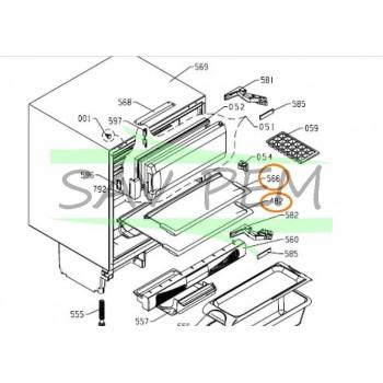 Tablette verre pour réfrigérateur AIRLUX RTF130A