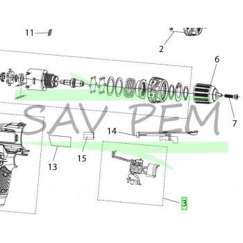 Interrupteur perceuses / visseuses RYOBI RCD12011L - RCD12012L