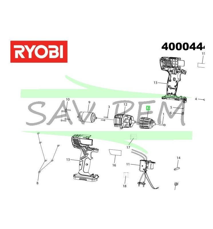 Mandrin pour perceuses / visseuses sans fil RYOBI R12SD - R7SD