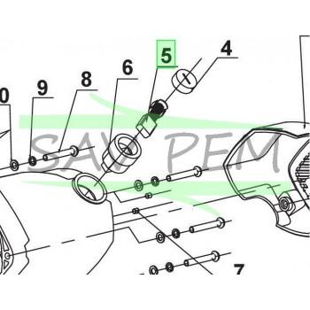 Charbon (x1) scie à onglet RYOBI modèle EMS305RG