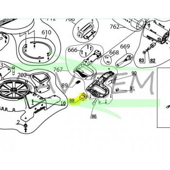 Interrupteur scie à onglet RYOBI modèle EMS2431SCL