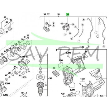 Interrupteur perforateurs AEG Powertools BBH18 - BBH18LI