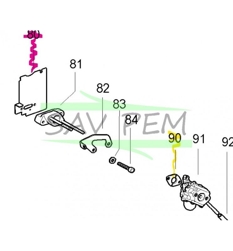 Joint 538227692 carburateur débroussailleuse MC CULLOCH CABRIO 321, CABRIO