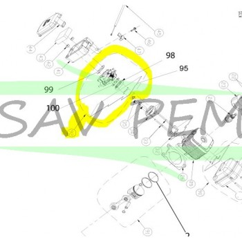Carburateur pour souffleur HOMELITE HYB30 / HBV30