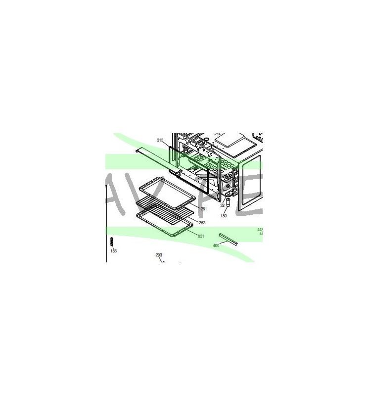 Plaque de sole de four piano de cuisson GLEM UN9612RR