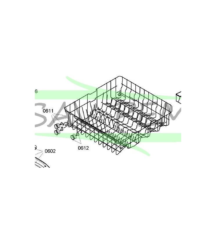 Panier supérieur lave-vaisselle AIRLUX LV390C SGIAIE6-90