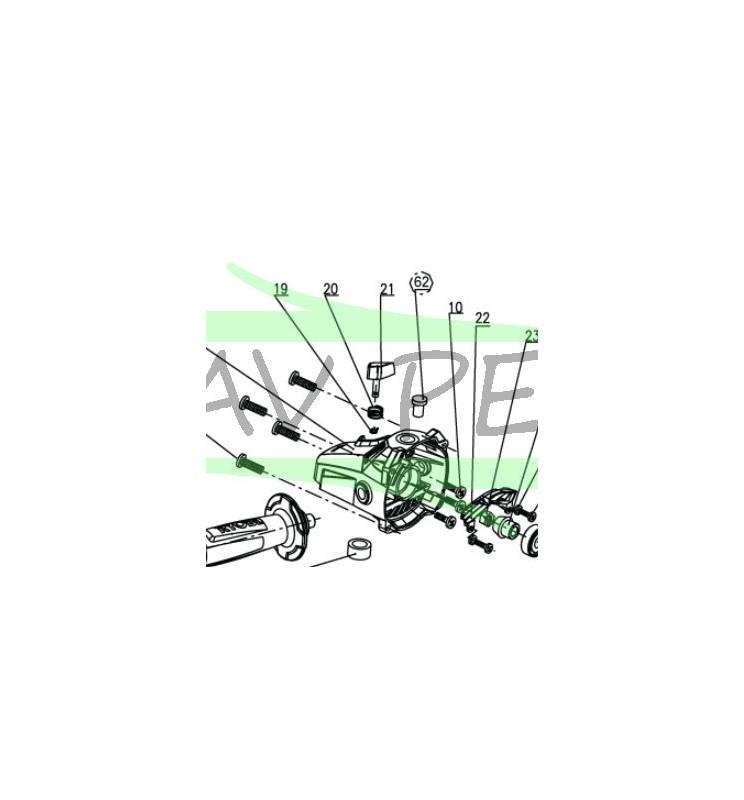 Clip de bouton meuleuse RYOBI EAG2000RS
