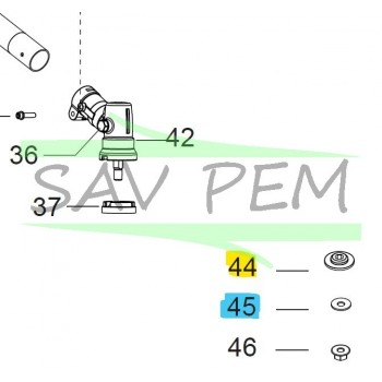 Rondelle débroussailleuses PARTNER B28B, B28PS, B28P, B428PS, B26PS