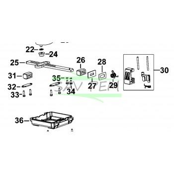 FIXATION LAME 90597891 pour SCIE SCORPIO BLACK & DECKER RS890, KFBES890