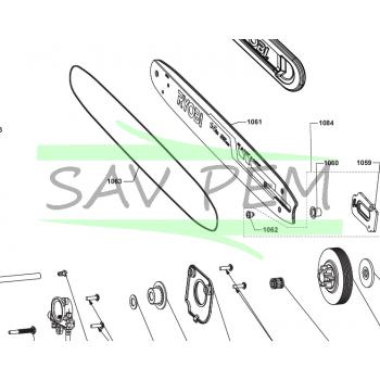 Guide 35cm pour tronçonneuses RYOBI RCS3835T - 5131037105